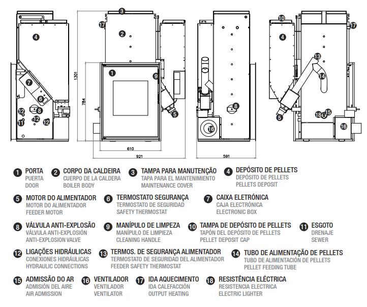 Recuperador ADAM Hydro 26 - Desenho Técnico