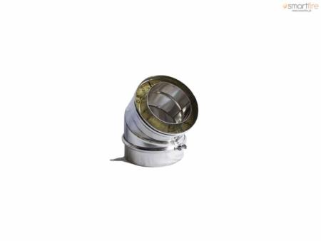 Curva a 45º em Aço INOX Isolado - Parede Dupla