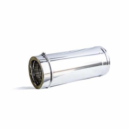 Tubo em Aço INOX Isolado - Parede Dupla - 1m