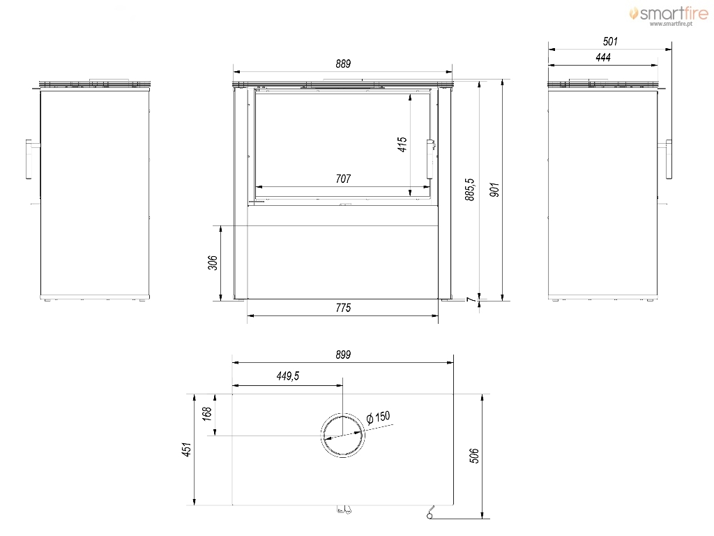 Desenho Técnico e Dimensões