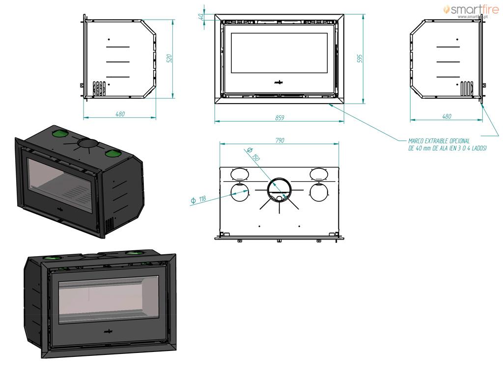 Recuperador Galaxy 80 - Desenho Técnico