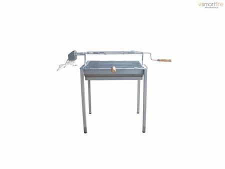 Grelhador Inox E7100 c/ Motor - 2-frangos-eco
