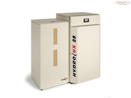 Caldeiras a Pellets Hydrolux 28kW Automática - Esquerda